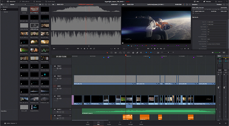 Blackmagic DaVinci Resolve editing screenshot
