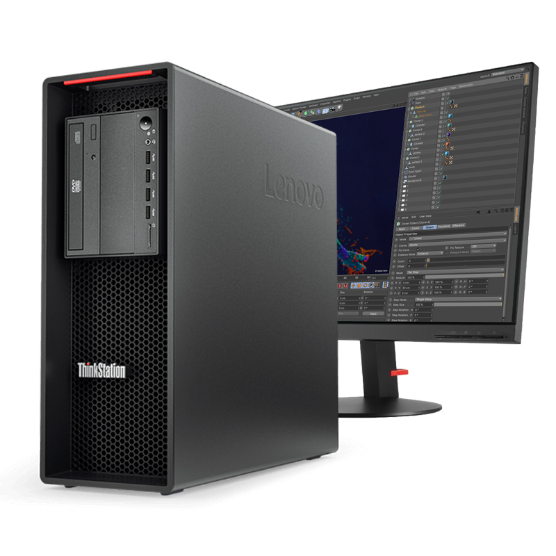 Lenovo ThinkStation P520 + 27 inch monitor