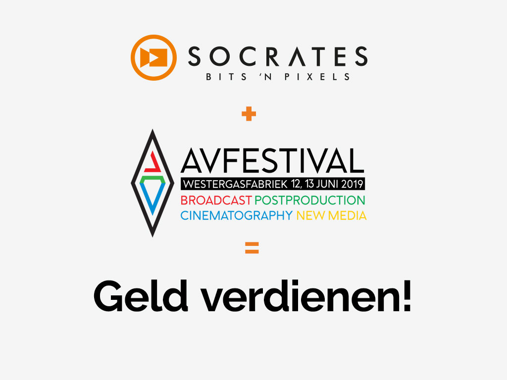 Socrates + AV Festival = Geld verdienen