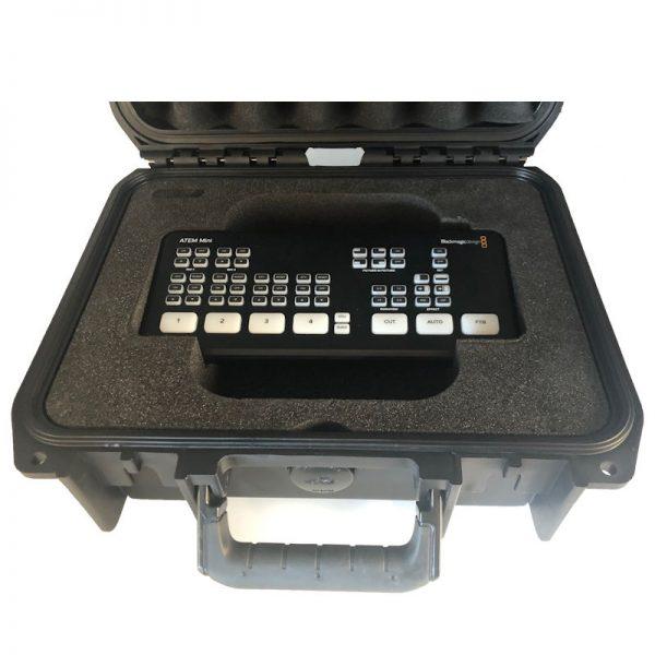 Atem Mini beschermende koffer met foam inlay speciaal voor de ATEM Mini en Mini Pro