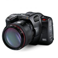 Blackmagic Pocket Cinema Camera 6K Pro W Lens Lef Angle BMPCC6KPRO